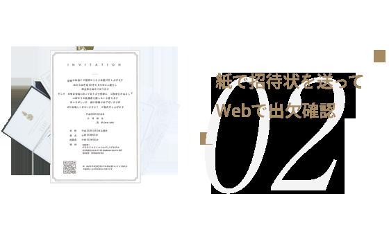 紙で招待状を送ってWebで出欠確認